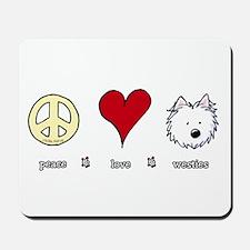 Peace Love Westies Mousepad