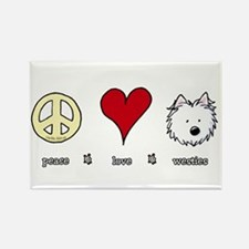 Peace Love Westies Rectangle Magnet