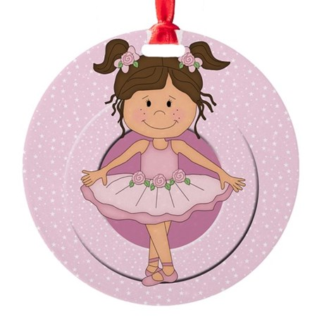 Cute Ballerina gifts Round Ornament
