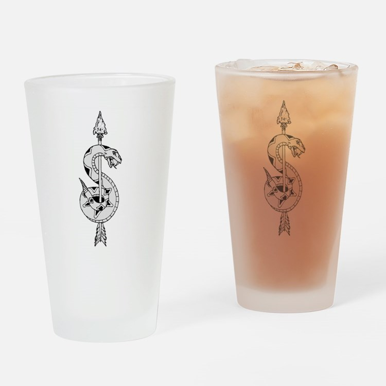 Sniper Logo Drinking Glass