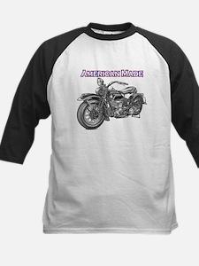 harley davidson Panhead motorcycle Kids Baseball J