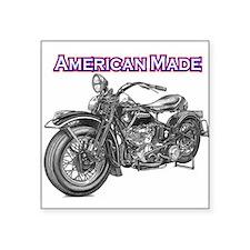 harley davidson Panhead motorcycle Square Sticker