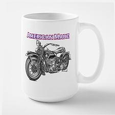 harley davidson Panhead motorcycle Large Mug