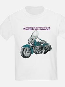 harley davidson Panhead motorcycle drawing T-Shirt