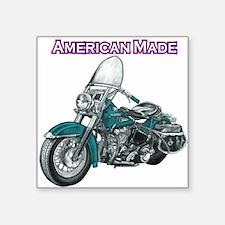 harley davidson Panhead motorcycle drawing Square