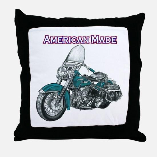 harley davidson Panhead motorcycle drawing Throw P