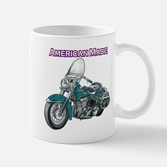 harley davidson Panhead motorcycle drawing Mug