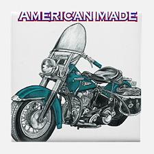 harley davidson Panhead motorcycle drawing Tile Co