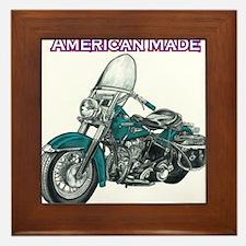 harley davidson Panhead motorcycle drawing Framed