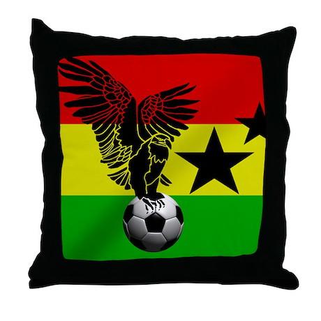 Throw Pillows Jysk : Ghana Football Flag Throw Pillow by worldsoccerstore