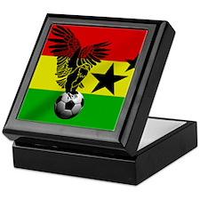 Ghana Football Flag Keepsake Box