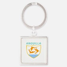 Anguilla Coat of arms Square Keychain