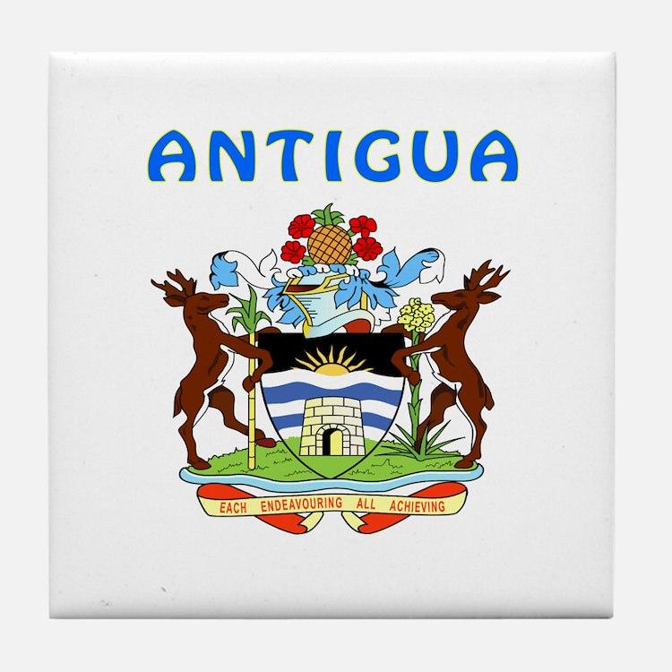 Antigua Coat of arms Tile Coaster