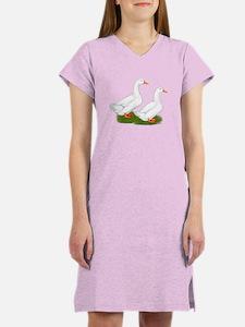 White Pekin Ducks 2 Women's Nightshirt