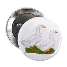 "White Pekin Ducks 2 2.25"" Button"