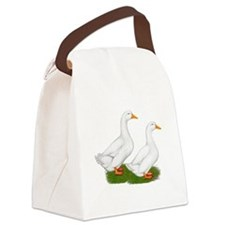 White Pekin Ducks 2 Canvas Lunch Bag