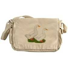 White Pekin Ducks 2 Messenger Bag