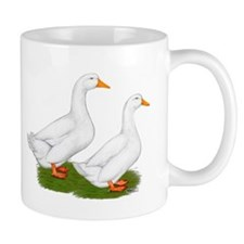 White Pekin Ducks 2 Small Mug