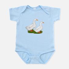 White Pekin Ducks 2 Infant Bodysuit