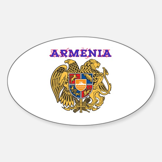 Armenia Coat of arms Sticker (Oval)