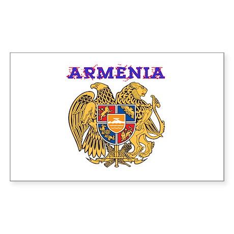 Armenia Coat of arms Sticker (Rectangle 50 pk)