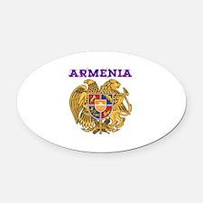 Armenia Coat of arms Oval Car Magnet