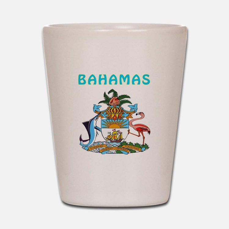 Bahamas Coat of arms Shot Glass