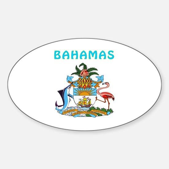 Bahamas Coat of arms Sticker (Oval)