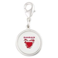 Bahrain Coat of arms Silver Round Charm