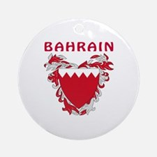 Bahrain Coat of arms Ornament (Round)