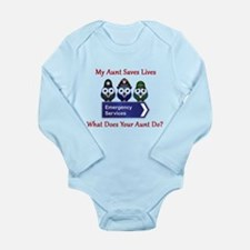 What Does Your Aunt Do? Long Sleeve Infant Bodysui