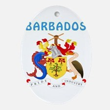 Barbados Coat of arms Ornament (Oval)
