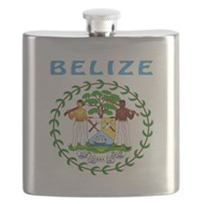 Belize Coat of arms Flask