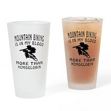 Mountain Biking Designs Drinking Glass