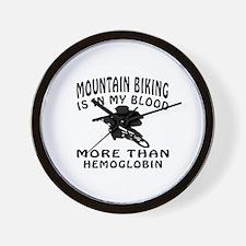 Mountain Biking Designs Wall Clock