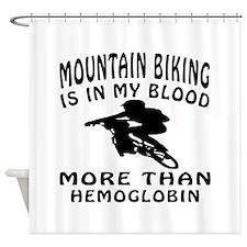 Mountain Biking Designs Shower Curtain