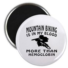 "Mountain Biking Designs 2.25"" Magnet (10 pack)"