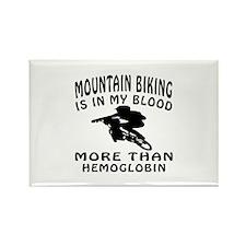 Mountain Biking Designs Rectangle Magnet