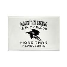 Mountain Biking Designs Rectangle Magnet (10 pack)