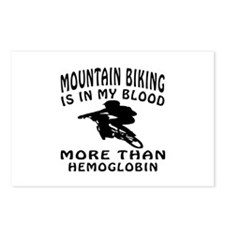 Mountain Biking Designs Postcards (Package of 8)