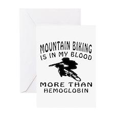 Mountain Biking Designs Greeting Card
