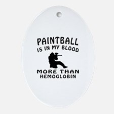 Paintball Designs Ornament (Oval)
