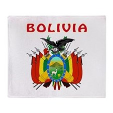 Bolivia Coat of arms Throw Blanket