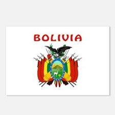 Bolivia Coat of arms Postcards (Package of 8)
