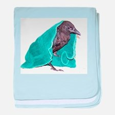 Crow Rescue baby blanket