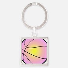 Colorful Basketball Square Keychain