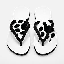 Bear Tracks Flip Flops