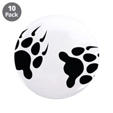 "Bear Tracks 3.5"" Button (10 pack)"
