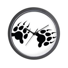 Bear Tracks Wall Clock