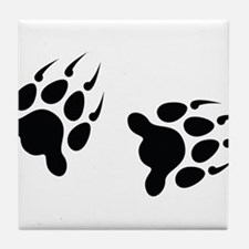 Bear Tracks Tile Coaster